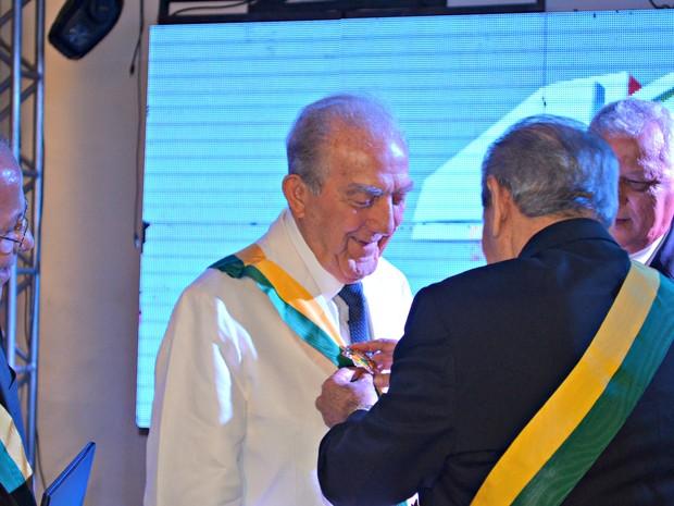 Phelippe Daou recebeu a Comenda da Ordem do Mérito Comercial. (Foto: Thiago Cabral / G1)
