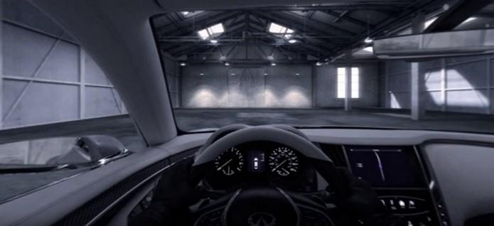 Teste drive usando realidade virtual (Foto: Divulgação/Infinity)