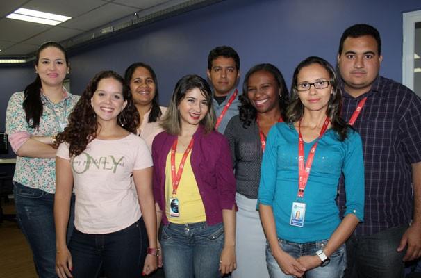 Equipe de jornalista do G1 Piauí (Foto: Katylenin França)