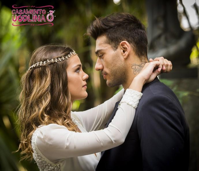 Uodson e Alina vão subir ao altar (Foto: João Miguel Jr./TV Globo)