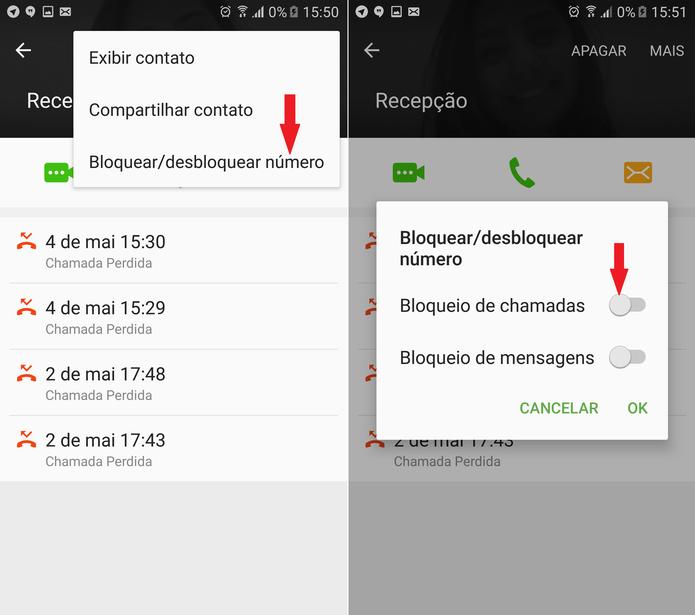 Desbloquear chamadas/contatos no Android é simples (Foto: Reprodução/Caio Bersot)