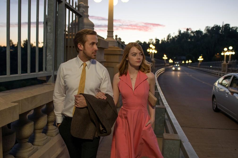 Ryan Gosling e Emma Stone em 'La La Land: Cantando estações' (Foto: Divulgação)