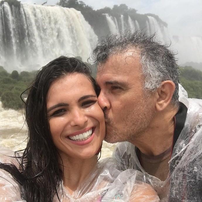 Kamilla e o pai, Luiz Carlos, curtindo a viagem (Foto: Arquivo pessoal)