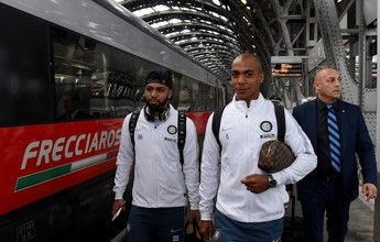 Com Gabigol, Inter de Milão viaja de trem para enfrentar o Empoli