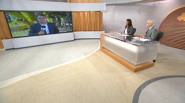 Repórter Vandré Fonseca participa ao vivo do Bom Dia Brasil (Foto: Reprodução/Bom Dia Brasil)