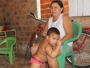 A dona de casa Maria Cilda disse que está satisfeita com o atendimento (Foto: Patrícia Andrade/G1)