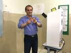 Wilson Santos vota em Cuiabá no início da manhã