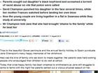 'Eles não são ruins', diz jovem que apanhou dos pais por namorar negro