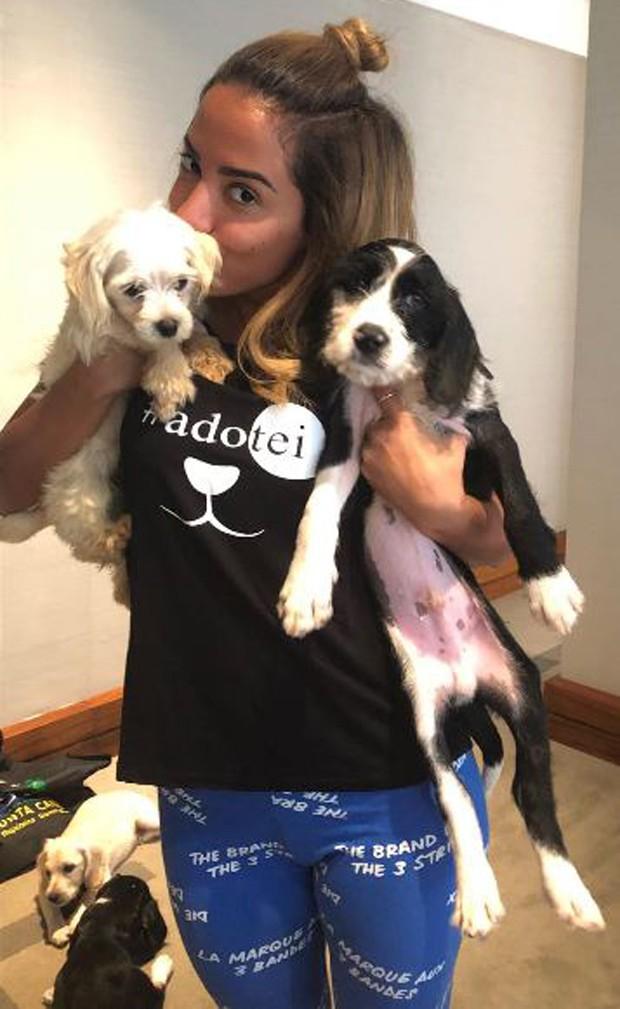 Anitta acabou decidindo adotar dois cães de Luisa Mell (Foto: Reprodução/Instagram)