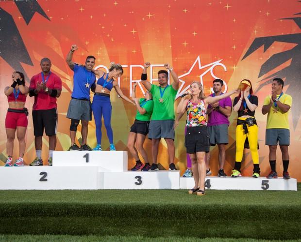 Altetas posam no pódio do Personal das Estrelas (Foto: Fabiano Battaglin/Gshow)