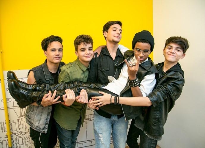 Os meninos da Rockscola estão aí para provar que estilo não tem idade (Foto: Isabella Pinheiro/Gshow)