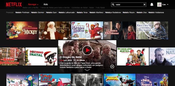 Netflix e outros serviços têm filmes de natal no catálogo (Reprodução/Caio Bersot)