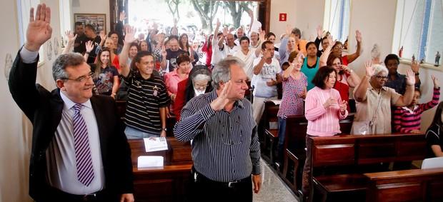 mario gobbi corinthians missa são jorge (Foto: Rodrigo Coca/Agência Corinthians)