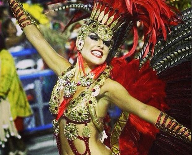 Paloma Bernardi em último desfile da Grande Rio (Foto: Arquivo Pessoal)
