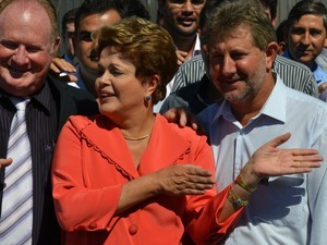 Presidente Dilma Rousseff em Campo Grande MS (Foto: Fernando da Mata/G1 MS)