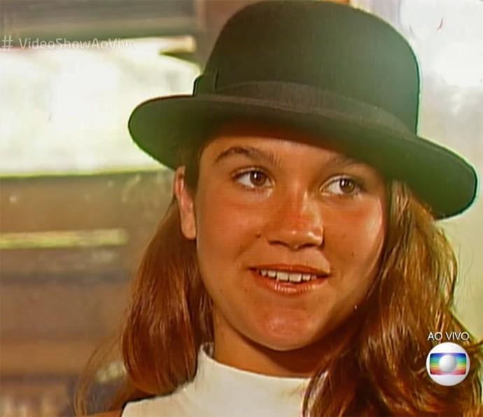 Flávia Alessandra, aos 15 anos, em 'Top Model' (Foto: Vídeo Show / TV Globo)