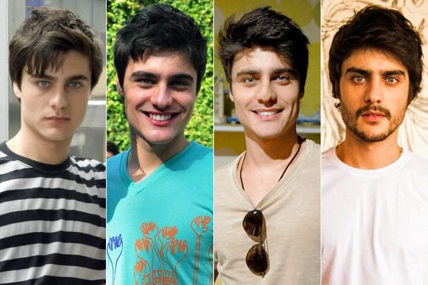 Guilerme Leicam em Tempos Modernos (2010), Fina Estampa (2011), Malhação (2013) e Em Família (2014) (Foto: CEDOC Globo)