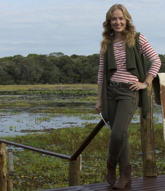 Confira look de Angélica no segundo programa da temporada de inverno do Estrelas no Pantanal (Foto: Gabriel Nascimento/Gshow)