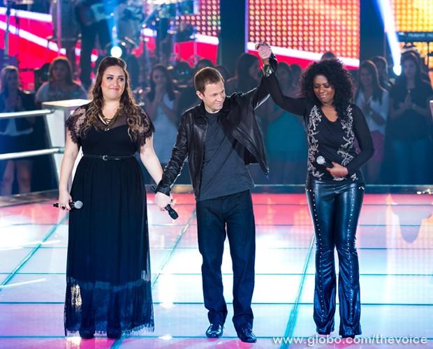"""Elas cantam a música """"Try"""", da cantora Pink (Foto: Isabella Pinheiro/TV Globo)"""