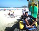Fã de surfista sem braço, cadeirante quer Guinness por encarar Pororoca