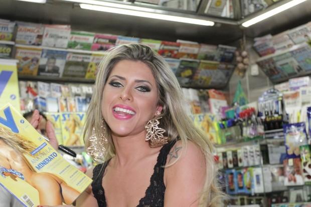Ana Paula Minerato é capa da revista Sexy (Foto: Paduardo / AgNews)