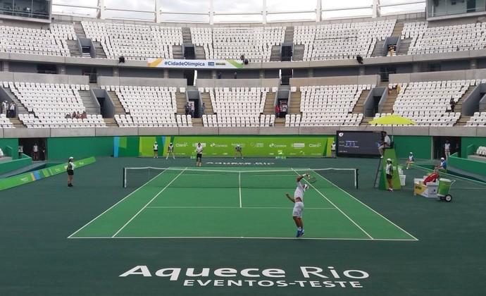 Evento-teste tênis Parque Olímpico (Foto: Reprodução / Twitter)