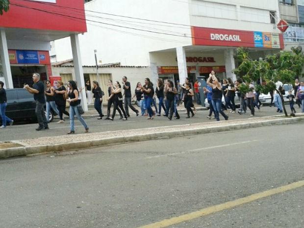 Manifestação Patrocínio (Foto: Miriam Cunha/Arquivo Pessoal)