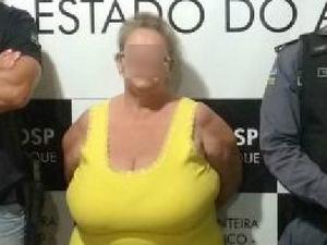 idosa, prisão, suspeita, tráfico, drogas, Oiapoque, Macapá, Amapá (Foto: Divulgação/ Polícia Civil)