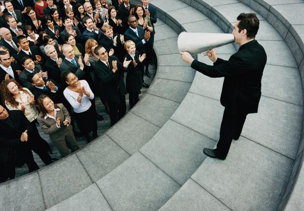Carreira ; liderança ; falar em público ; ser ouvido ; ter sucesso ; líder ; discurso ; motivar a equipe ;  (Foto: ThinkStock)