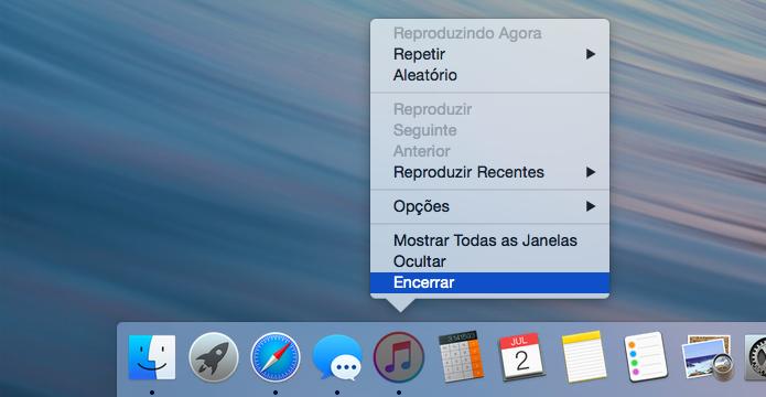 Feche completamente o iTunes (Foto: Reprodução/Helito Bijora)