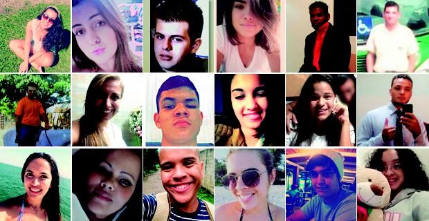 Vítimas de acidente na Mogi-Bertioga (Foto: Arte/ G1)