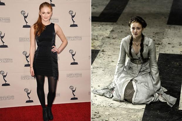 Sophie Turner em Game of Thrones (Foto: Agência Getty Images / Divulgação Game of Thrones)