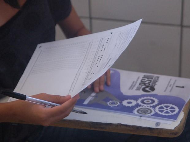 No domingo, foram aplicadas provas de Redação, Língua Portugues e Língua Estrangeira. (Foto: Ascom/Uesb)