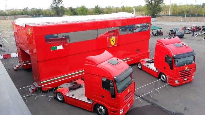 Motorhome da Ferrari (Foto: Divulgação)