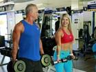 Kadu Moliterno e Cristianne Rodriguez treinam juntos em academia