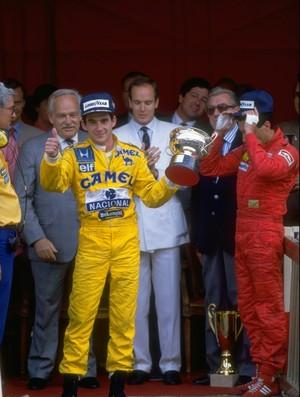 Em 1987, Ayrton Senna, então na Lotus, conquistou a primeira de seis vitórias em Mônaco