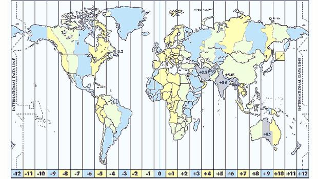 4b72015d8be Divisão internacional de fuso horário (Foto  Reprodução)