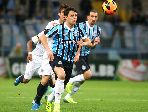 Kleber Grêmio x Santos (Foto: Lucas Uebel / Grêmio)