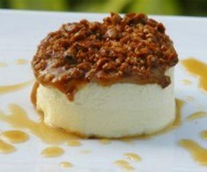 Torta de doce de leite com cobertura crocante