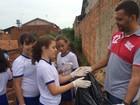 Ação contra o Aedes reúne alunos e ministra da Agricultura, em Goiás