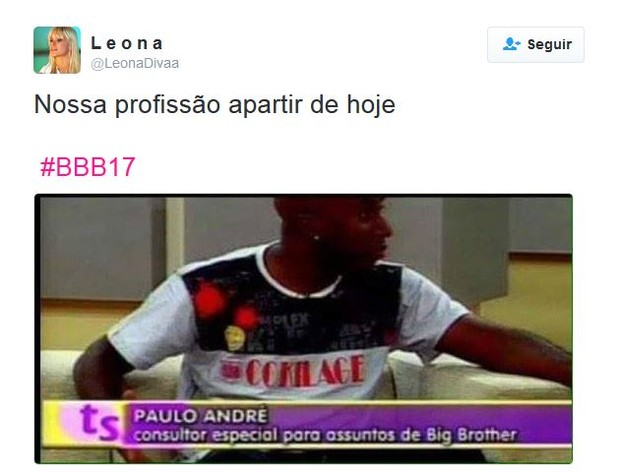Memes BBB 17 (Foto: Twitter / Reprodução)