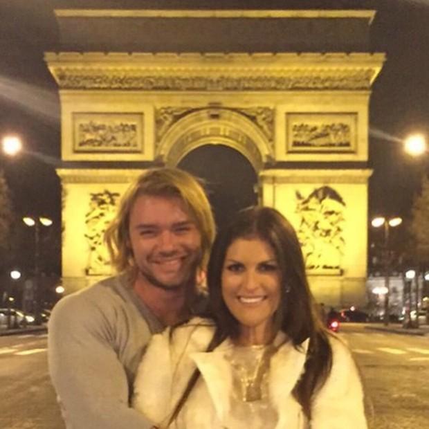Thor Batista com namorada, Lunara Campos, em Paris, na França (Foto: Instagram/ Reprodução)