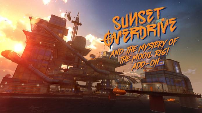 Plataforma de petróleo vira playground no primeiro DLC de história de Sunset Overdrive (Foto: Gematsu)