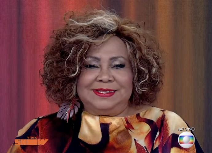 Alcione participa ao vivo do 'Vídeo Show' (Foto: Vídeo Show / TV Globo)