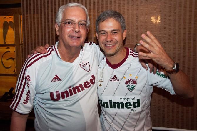 FUTEBOL - FLUMINENSE - Peter Siemsen e Celso Barros (Foto: Nelson Perez / Fluminense FC)
