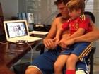 Amaury Nunes se diverte com filho de Danielle Winits