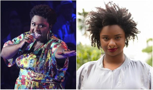 Ellen Oléria em 2012, durante o programa The Voice, e hoje, depois de emagrecer 25 quilos (Foto: TV Globo/Alex Carvalho-Renata Almeida/EGO)