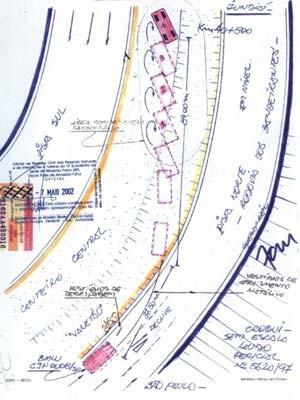 Croqui do local do acidente foi anexado ao processo (Foto: Reprodução)