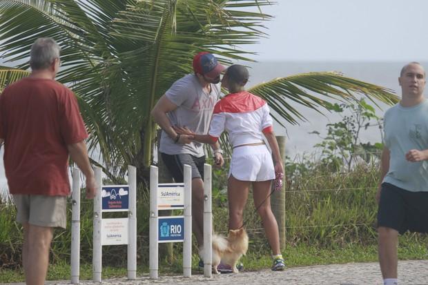 Adriana e Rodrigão (Foto: Dilson Silva/Agnews)