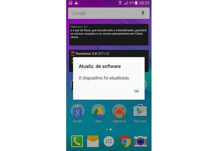 Note 4 atualizado com o Android Lollipop (Foto: Reprodução/Lucas Mendes)
